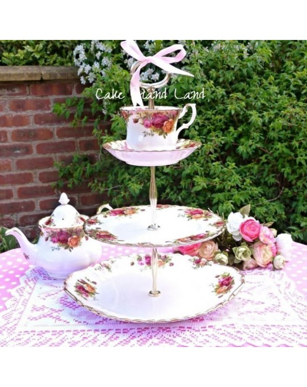 ROYAL ALBERT TEA CUP CAKE STAND